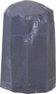 heute-wohnen Abdeckplane Abdeckhaube Schutzplane Schutzhülle für Grill, anthrazit Ø 69cm Höhe 96cm