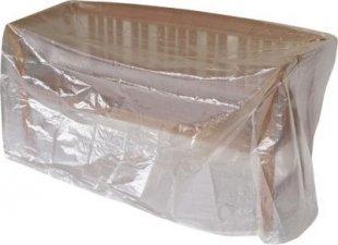 gartenmoebel-einkauf Abdeckhaube Bank 2-sitzer 134cm, PE transparent