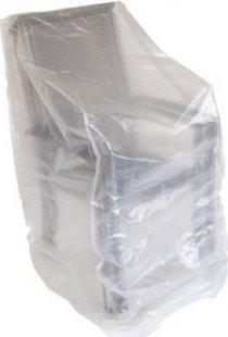 gartenmoebel-einkauf Abdeckhaube Stapelstühle 150cm, PE transparent