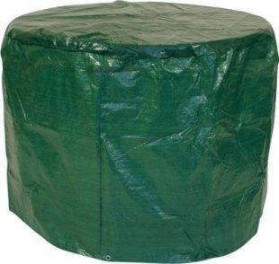 gartenmoebel-einkauf Abdeckhaube Tisch 100x70cm rund, PE dunkelgrün