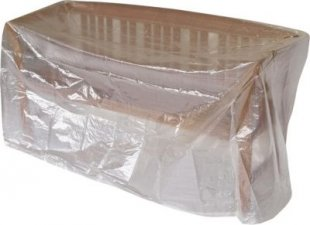 gartenmoebel-einkauf Abdeckhaube Bank 4-sitzer 193cm, PE transparent
