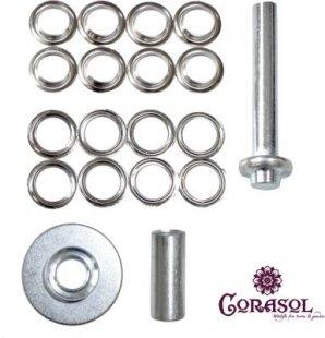 Corasol Regenwasser-Ablauf-Set, 8 Ösen Ø 27mm, für wasserabweisende Sonnensegel, 19-teilig (1 Set)