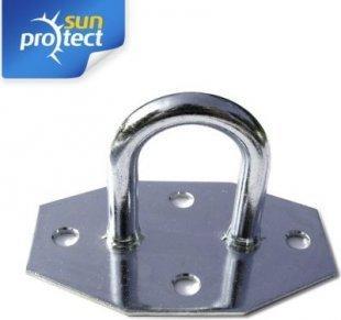 sunprotect SPT83207 Montage Zubehör für Sonnensegel, Wandöse, verzinkt (1 Stück)
