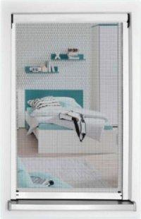 1PLUS Standard Insektenschutzrollo für Fenster, 130 x 160 cm, individuell kürzbar, weiß