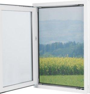EASYmaxx Fenster-Moskitonetz Magic Klick mit Magnetbefestigung 150 x 130cm, schwarz