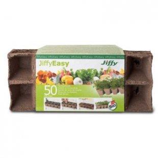 Jiffy Torf-Anzuchttöpfe, eckig 4,5x4,5 cm - 50 Stück