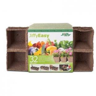 Jiffy Torf-Anzuchttöpfe, eckig 6x6 cm - 32 Stück