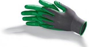 Living & Garden Universal-Handschuh, 2er Paar - Größe XL, grau/dunkelgrün