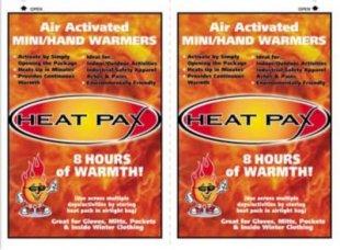 Heat Pax Wärmepack 1 Paar Handwärmer 8 Stunden Wärme