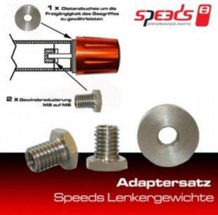 Speeds Adapter-Satz für Lenkergewicht M8 auf M6