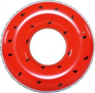 Jilong Watermelon Ring - XXL Schwimmring, Poolsessel im Style einer Wassermelone, aufblasbare Wassermatratze 110x30 cm, Luftmatratze für Pool oder Meer, Schwimmsessel