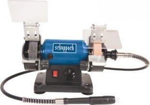 Scheppach HG34 Mini-Doppelschleifer mit Zubehör