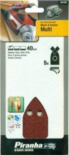 Black&ampDecker Multischleifpapier, 5 Stück