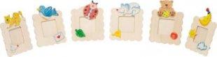 goki SB301 Toys Pure Bilderrahmen zum Anmalen, 11 x 12 cm, natur (Modell zufällig, 1 Stück)