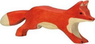 Holztiger 80094 Fuchs, laufend, rot (1 Stück)