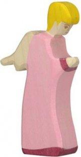 Holztiger 80314 Engel 3, stehend, rosa (1 Stück)