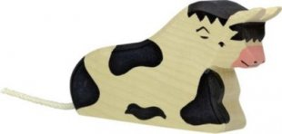 Holztiger 80001 Stier, liegend, schwarz (1 Stück)