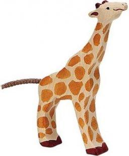 Holztiger 80157 Giraffe, klein, fressend, orange (1 Stück)