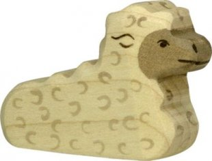 Holztiger 80077 Lamm, liegend, weiß (1 Stück)