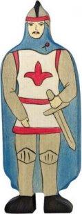 Holztiger 80245 Ritter mit Mantel, blau (1 Stück)