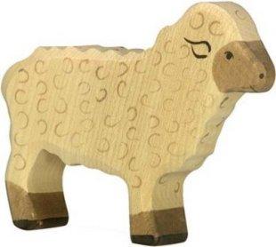 Holztiger 80073 Schaf, stehend, weiß (1 Stück)