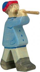 Holztiger 80304 Hirte mit Flöte 2, blau (1 Stück)