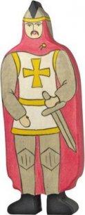 Holztiger 80244 Ritter mit rotem Mantel, rot (1 Stück)