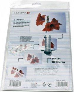 OLYMPIA Laminierfolie 25 X DIN A4 80 Mikron