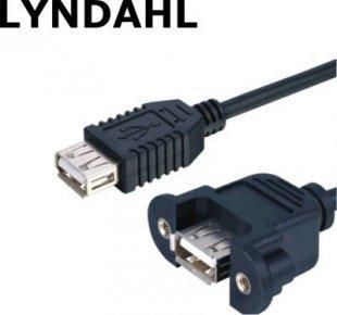 Lyndahl LKPK015-05 USB 2.0 Adapterkabel zur Frontplattenmont Buchse-Stecker 50cm
