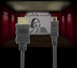 Cablemind High Speed Micro HDMI-Kabel m. Ethernet Kanal, schwarz, versch. Längen Länge: 0,5 m