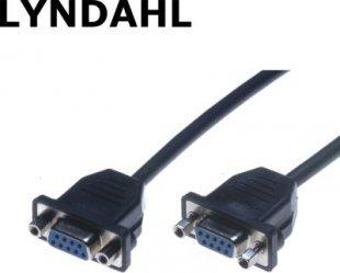 Lyndahl LKPK020 Sub-D 9-POL Adapterkabel f. Frontplattenmontage (2x Buchse) 0,2m