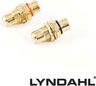 Lyndahl LKPA015K Cinch Einbaubuchse f. Frontplattenmontage, vergoldet Farbe: Schwarz