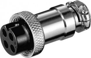 Goobay Mikrofonkupplung, 4-polig, MK 4