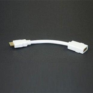 Lyndahl LKHD012 High Speed HDMI 1.3a Adapterkabel, Stecker/Buchse, 15cm, weiß