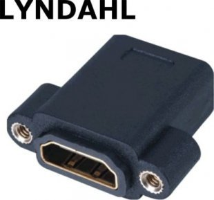 Lyndahl LKPA005 HDMI 1.4 Adapter für Frontplattenmontage, 2x Buchse