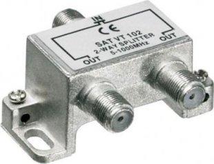 2fach Verteiler (Splitter) für BK Anlagen, für F-Stecker