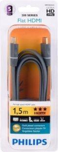 PHILIPS SWV 4452S/10 HDMI 1.4 Flat-Kabel 1,5 m, Schwarz