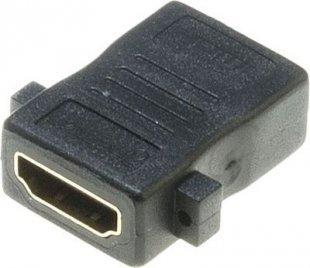 Lyndahl LKPA008 gerader HDMI Einbauadapter, HDMI 1.4 F/F Paneladapter,vergoldet