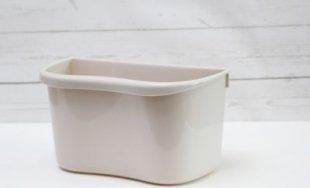 1PLUS Mülleimer Abfalleimer Multi-Küchenaufbewahrungsbox, auch zum Einhängen geeignet, Kunststoff, beige