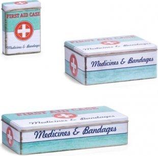 Zeller Medizin-Box ´´First Aid´´, Metall, verschiedene Größen Größe: 7x2,4x9,4cm
