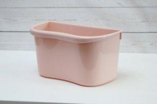 1PLUS Mülleimer Abfalleimer Multi-Küchenaufbewahrungsbox, auch zum Einhängen geeignet, Kunststoff, rosa