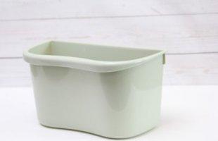 1PLUS Mülleimer Abfalleimer Multi-Küchenaufbewahrungsbox, auch zum Einhängen geeignet, Kunststoff, grün