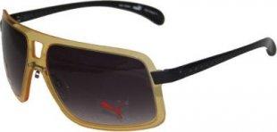 Puma Sonnenbrille PU 15046 gelb + Etui+ Brillenputztuch Sonnen Damen Brille Neu