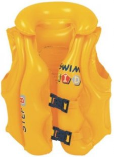 Jilong swim vest B - aufblasbare Schwimmweste für Kinder mit 3 Sicherheits-Luftkammern