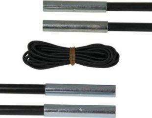 10T SPK 79 - Fiberglas Zeltstangen Reparaturset 4er Set je Segment mit 65cm x 7,9mm inkl. Verbindungsgummi