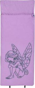 10T Fairy XL Kinderschlafsack 180x75cm Deckenschlafsack mit Feen / Elfen Motiv Schlafsack mit bauschiger 300g/m² Füllung und Soft-Touch Material innen &amp außen für 3 / 4 Jahreszeiten Frühling Sommer Herbst