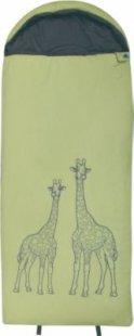 10T Giraffe XXL Kinderschlafsack 180x75cm Deckenschlafsack mit Giraffen Motiv Schlafsack mit bauschiger 300g/m² Füllung und Soft-Touch Material innen &amp außen für 3 / 4 Jahreszeiten Frühling Sommer Herbst