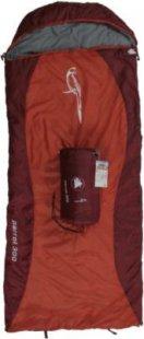 10T Parrot 300 - Kinder Decken-Schlafsack mit Halbmond-Kopfteil 180x75cm rot/orange Motivdruck bis +10°C