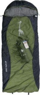 10T Giraffe 300 - Kinder Decken-Schlafsack mit Halbmond-Kopfteil 180x75cm blau/grün Motivdruck bis +10°C