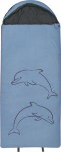 10T Dolphin XXL Kinderschlafsack 180x75cm Deckenschlafsack mit Delfin Motiv Schlafsack mit bauschiger 300g/m² Füllung und Soft-Touch Material innen &amp außen für 3 / 4 Jahreszeiten Frühling Sommer Herbst
